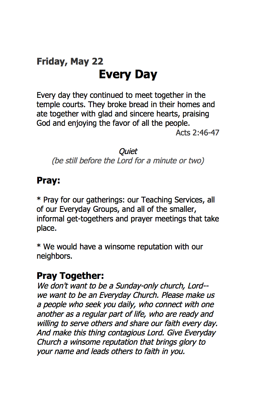 What is a prayer for every day